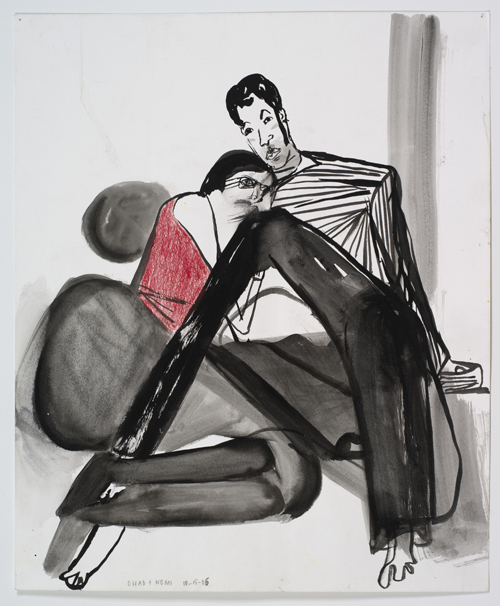 in Pictures for Amy Sillman at CCS Bard / Hessel Museum of Art. Image for Amy Sillman, N & O v3, 2006, Ink, colored pencil and gouache on paper, 17 x 14 inches. Courtesy of the artist and Sikkema Jenkins & Co. Photo: John Berens.