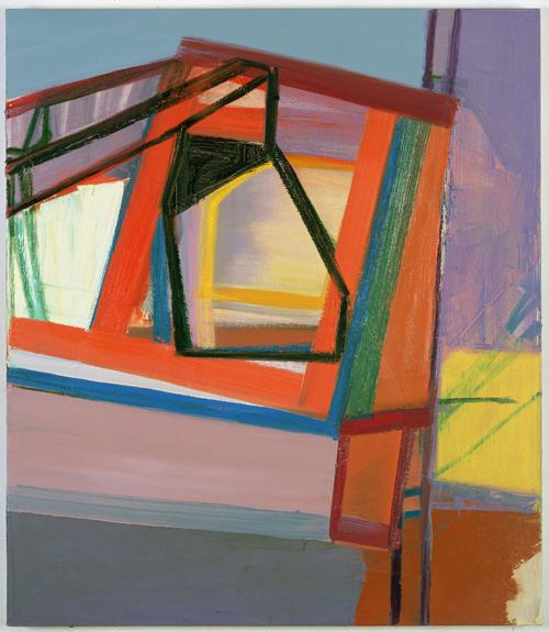 in Pictures for Amy Sillman at CCS Bard / Hessel Museum of Art. Image for Amy Sillman, C, 2007, Oil on canvas, 45 x 39 inches. Collection of Gary and Deborah Lucidon. Photo: John Berens.