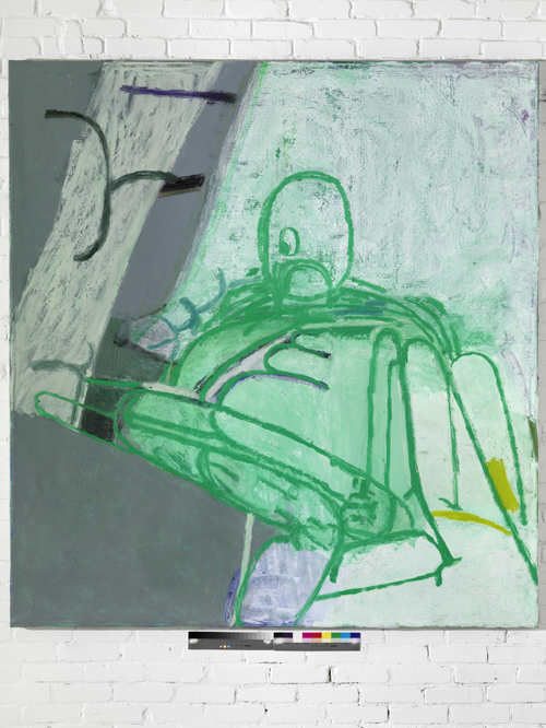 in Pictures for Amy Sillman at CCS Bard / Hessel Museum of Art. Image for Amy Sillman, Fatso, 2009, Oil on canvas, 90 1/2 x 84 1/2 inches. Courtesy of the artist and Sikkema Jenkins & Co. Photo: Bernd Borchardt.