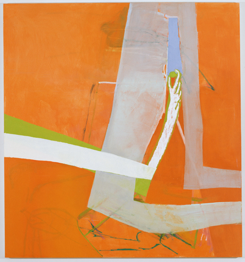 in Pictures for Amy Sillman at CCS Bard / Hessel Museum of Art. Image for Amy Sillman, Shade, 2010, Oil on canvas, 90 x 84 inches. Private collection. Photo: John Berens.