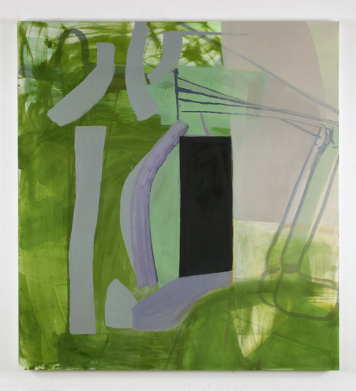 in Pictures for Amy Sillman at CCS Bard / Hessel Museum of Art. Image for Amy Sillman, Black Doorway, 2011, Oil on canvas, 91 x 84 inches, Marieluise Hessel. Collection, Hessel Museum of Art, Center for Curatorial Studies, Bard College, Annandale-on-Hudson, New York. Photo: Nick Ash.