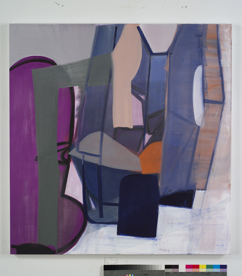 in Pictures for Amy Sillman at CCS Bard / Hessel Museum of Art. Image for Amy Sillman, # 841 (painting from print from animated drawing), 2012, Oil on canvas, 51 x 49 inches. Courtesy of the artist and Sikkema Jenkins & Co. Photo: John Berens.