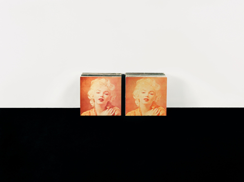 in Pictures for Anne Collier at CCS Bard / Hessel Museum of Art. Image for Anne Collier, Double Marilyn, 2007, C-print, 48.5 x 63.5 inches, Collection of Dean Valentine, Los Angeles. Courtesy of the artist; Anton Kern Gallery, New York; Corvi-Mora, London; Marc Foxx, Los Angeles; The Modern Institute/ Toby Webster Ltd., Glasgow.