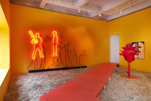 in Pictures for 'Bloodflames Revisited' at Paul Kasmin Gallery. Image for Installation view of Bloodflames Revisited. Photography by Josh Nefsky. Courtesy of Paul Kasmin Gallery.