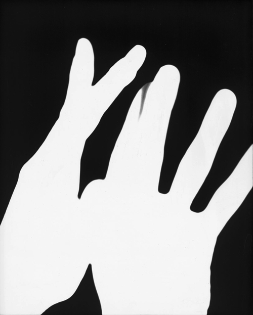 in Pictures for 'A Machinery for Living' at Petzel Gallery. Image for James Welling, Hands #1, 1975, Chromogenic Exhibition Print, Courtesy of the Artist and Regen Projects.