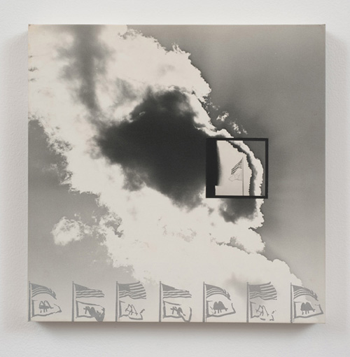 in Pictures for 'The Photographic Object, 1970' at Hauser & Wirth. Image for Darryl Curran, L.A. Series #16, 1969, Photographs and wood: Glossy gelatin silver photographic paper square mounted on matte surface photo paper with silver silkscreened ink, 30.48 x 30.48 x 2.54 cm / 12 x 12 x 1 in © Darryl Curran. Courtesy Cherry and Martin. Photo: Robert Wedemeyer.
