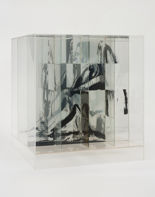 in Pictures for 'The Photographic Object, 1970' at Hauser & Wirth. Image for Jack Dale, Untitled Cubed Woman, 1970, Photosensitized glass, Plexiglas, 55.88 x 50.8 x 50.8 cm / 22 x 20 x 20 in © Jack Dale. Courtesy Cherry and Martin. Photo: Robert Wedemeyer.