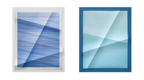 in Pictures for 'Fixed Variable' at Hauser & Wirth. Image for John Houck, Untitled #313, 130,320 combinations of a 2x2 grid, 19 colors, 2014 (from Aggregates series), 2014, Diptych, creased archival pigment prints, 76.2 x 61 cm / 30 x 24 in each © John Houck, Courtesy the artist, Hauser & Wirth and On Stellar Rays.