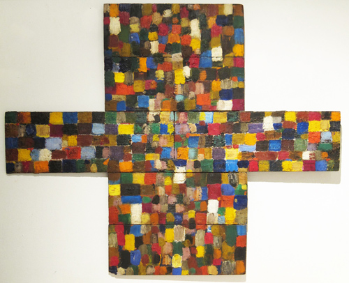 in Pictures for 'The Jam 3.0' at Steven Harvey Fine Art Projects. Image for Jan Muller, Cross Mosaic, 1953, oil on wood panels, 26 x 31 inches. Courtesy of Steven Harvey Fine Art Projects.