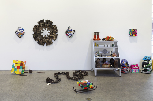 in Pictures for 'Displayed' at Anton Kern Gallery. Image for Nancy Shaver, Installation view, 2014. Courtesy the artist; Anton Kern Gallery, New York.