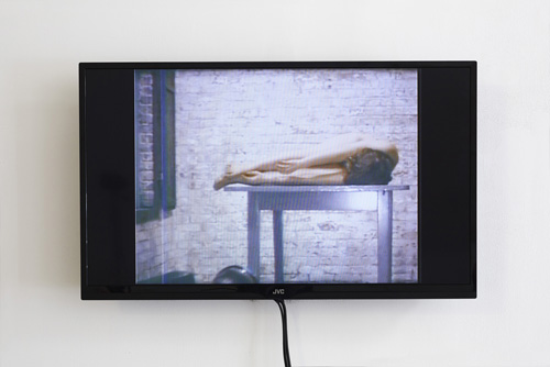 in Pictures for 'Changing Table' at Kate Werble Gallery. Image for Pooh Kaye, Table-Walk, 1976, Super-eight transfer to digital video, Total running time: 1 minute, 30 seconds, Edition of 5 with 2 AP. Courtesy of the artist and Kate Werble Gallery, New York. Photo: Elisabeth Bernstein.