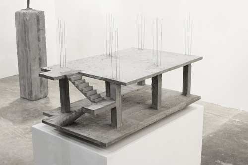 in Pictures for 'Beyond the Supersquare' at The Bronx Museum of the Arts. Image for Felipe Arturo, Casa Domino, 2010, Reinforced concrete, 39.5 x 23.6 x 19.7 inches. Courtesy of the artist.