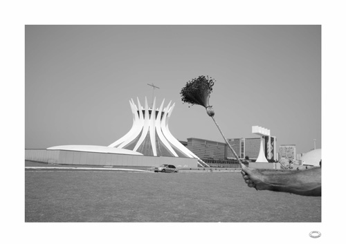 in Pictures for 'Beyond the Supersquare' at The Bronx Museum of the Arts. Image for Alberto Baraya, Estudios comparados modernistas: Catedral-Brasilia & Escobia seca, 2010-11, Black and white photograph, inkjet print on cotton paper, 23.6 x 33.1 inches. Courtesy of Galeria Nara Roesler.