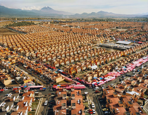 in Pictures for 'Beyond the Supersquare' at The Bronx Museum of the Arts. Image for Livia Corona (b. Mexico, 1975; based in New York), From the series Two Million Homes for Mexico, 47,547 Homes for Mexico Ixtapaluca, 2007, Archival Chromogenic Print, 30 x 40 inches. Courtesy of the artist and Galeria Agustina Ferreyra, San Juan, Puerto Rico.