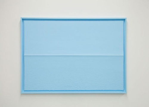 in Pictures for Tom Friedman at Luhring Augustine Bushwick. Image for Tom Friedman, Blue Styrofoam Seascape, 2014, Paint and Styrofoam, 45 3/8 x 63 1/2 in. (115.25 x 161.29 cm). Courtesy of the artist and Luhring Augustine, New York.