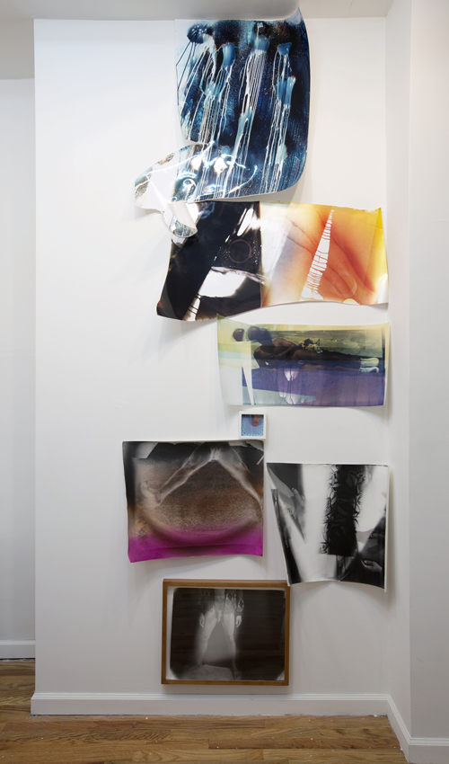 in Pictures for 'Zero Point' at Jackie Klempay Gallery. Image for Mariah Robertson, Untitled, 2014, Unique color prints on variable paper, Dimensions variable. Courtesy of Jackie Klempay Gallery.