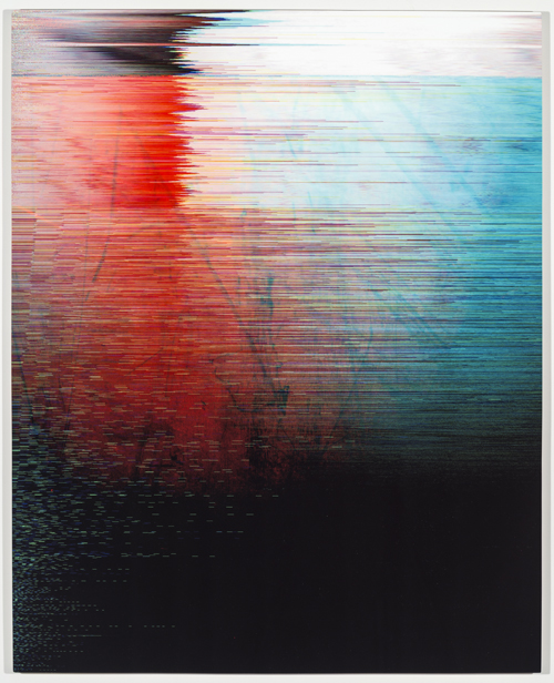 in Pictures for 'Itself Not So' at Lisa Cooley. Image for James Hoff, Stuxnet No. 5, 2014, Chromaluxe transfer on aluminum, 30 x 24 inches. Courtesy of the artist; Callicoon Fine Arts, New York; Lisa Cooley, New York