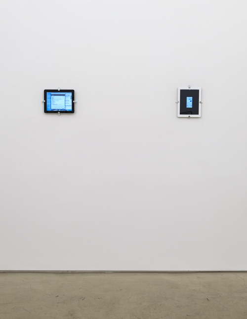 in Pictures for 'Itself Not So' at Lisa Cooley. Image for Sophia Le Fraga, from left to right: TH3 B4LD 5OPRANO; or, English Made Easy, 2014, Digital video, 8:46 minutes; W8ING, 2014, Digital video, 9:22 minutes. Courtesy of the artist and Lisa Cooley, New York
