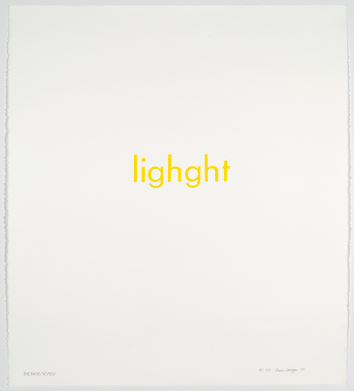 in Pictures for 'Itself Not So' at Lisa Cooley. Image for Aram Saroyan, Lighght, 1989, Silkscreen, 29.5 x 26.5 inches. Courtesy of the artist and Lisa Cooley, New York
