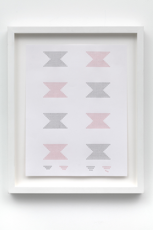 in Pictures for 'Itself Not So' at Lisa Cooley. Image for Christopher Knowles, Butterfly Blocks, 1980s, Typing on Paper, 11 x 8.5 inches. Framed: 13 7/8 x 11.25 inches. Courtesy of the artist; Gavin Brown's enterprise, New York; Lisa Cooley, New York
