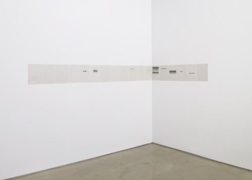 in Pictures for 'Itself Not So' at Lisa Cooley. Image for Sue Tompkins, The Lost Weekend, 2014, Typewritten text on newsprint, In 18 parts: 11.9 x 8.4 inches each. Courtesy of the artist; The Modern Institute, Glasgow; Lisa Cooley, New York