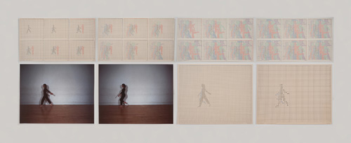 in Pictures for 'Charles Gaines: Gridwork 1974–1989' at The Studio Museum in Harlem. Image for Charles Gaines, Motion: Trisha Brown Dance, Set #1, 1980–81, Color photographs and ink on Strathmore paper Eight parts: 4 small drawings, 11 × 191⁄2 in. each; 2 large drawings and 2 photographs, 16 × 20 in. each; 31 1⁄8 × 841⁄2 × 2 in. (overall framed). Collection of James Keith Brown and Eric Diefenbach. Courtesy Susanne Vielmetter Los Angeles Projects. Photo: Robert Wedemeyer