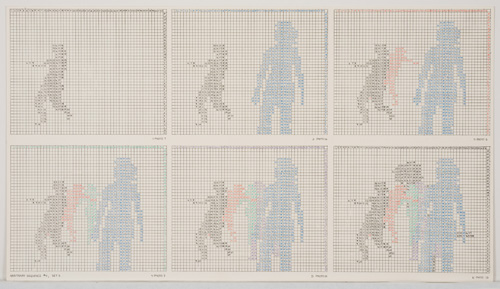 in Pictures for 'Charles Gaines: Gridwork 1974–1989' at The Studio Museum in Harlem. Image for Charles Gaines, Motion: Trisha Brown Dance, Set #5, 1980–81, Color photographs and ink on Strathmore paper Eight parts: 4 small drawings, 11 × 191⁄2 in. each; 2 large drawings and 2 photographs, 16 × 20 in. each; 31 1⁄8 × 841⁄2 × 2 in. (overall framed). Collection of James Keith Brown and Eric Diefenbach. Courtesy Susanne Vielmetter Los Angeles Projects. Photo: Robert Wedemeyer