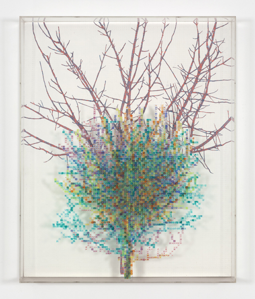 in Pictures for 'Charles Gaines: Gridwork 1974–1989' at The Studio Museum in Harlem. Image for Charles Gaines, Numbers and Trees II, Gertrude #5, 1987, Watercolor, ink and pencil on Masonite and acrylic sheet, 48 × 391⁄2 in. Courtesy the artist and Susanne Vielmetter Los Angeles Projects. Photo: Robert Wedemeyer