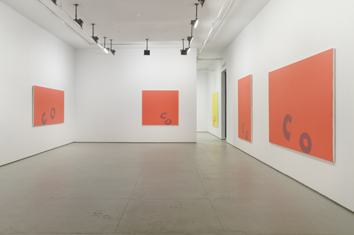 in Pictures for Carl Ostendarp at Elizabeth Dee Gallery. Image for Installation view of Carl Ostendarp: BLANKS at Elizabeth Dee. Photograph by Etienne Frossard. Courtesy the Artist and Elizabeth Dee, New York.