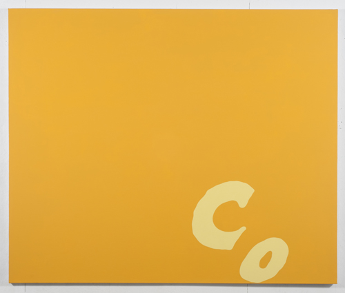 in Pictures for Carl Ostendarp at Elizabeth Dee Gallery. Image for Carl Ostendarp, Groove Holmes, 2014, Acrylic on Canvas, 58 1/2 x 70 inches (148.6 x 177.8 cm). Photograph by Etienne Frossard. Courtesy the Artist and Elizabeth Dee, New York.