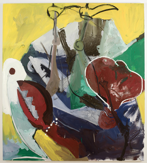 in Pictures for Tomer Aluf at KANSAS. Image for Tomer Aluf, Untitled, 2014, Oil, acrylic and almonds on canvas, 60 x 54 in/ 152.4 x 137.2 cm. Courtesy the artist and KANSAS, New York