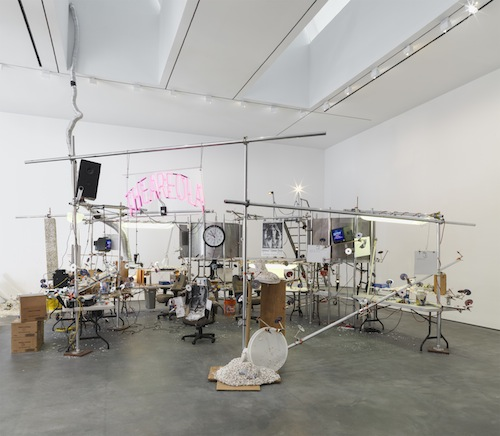 Month In Pictures Jason Rhoades at David Zwirner. Image for Jason Rhoades, Installation view of The Grand Machine / THEAREOLA (2002) from the 2014 solo show Jason Rhoades: PeaRoeFoam at David Zwirner, NY. Courtesy David Zwirner, New York/London
