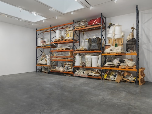 in Pictures for Jason Rhoades at David Zwirner. Image for Jason Rhoades, Installation view Iwan's Rack (2003-2004) from the 2014 solo show Jason Rhoades: PeaRoeFoam at David Zwirner, NY. Iwan's Rack: Collection of Iwan and Manuela Wirth. Courtesy David Zwirner, New York/London