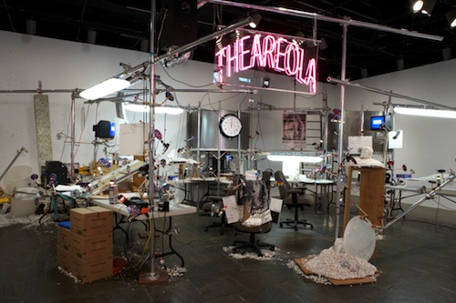 in Pictures for Jason Rhoades at David Zwirner. Image for Installation view of The Grand Machine / THEAREOLA (2002) at the 2008 Whitney Biennial, New York. Courtesy Estate of Jason Rhoades, Galerie Hauser & Wirth, and David Zwirner, New York/London