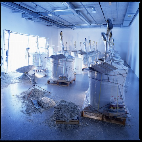 in Pictures for Jason Rhoades at David Zwirner. Image for Installation view of PeaRoeFoam: My Special Purpose (2002) at Museum Moderner Kunst Stiftung Ludwig Wien, Vienna, 2002. Courtesy Estate of Jason Rhoades and David Zwirner, New York/London