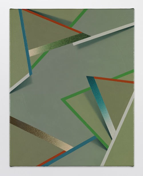 in Pictures for Tomma Abts at David Zwirner. Image for Tomma Abts, Dele, 2014, Acrylic and oil on canvas, 18 7/8 x 15 inches (48 x 38 cm). Courtesy David Zwirner, New York/London