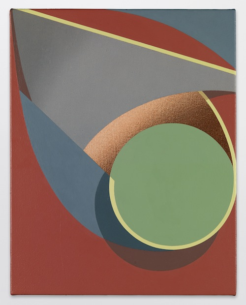 in Pictures for Tomma Abts at David Zwirner. Image for Tomma Abts, Oijen, 2014, Acrylic and oil on canvas, 18 7/8 x 15 inches  (48 x 38 cm). Courtesy David Zwirner, New York/London