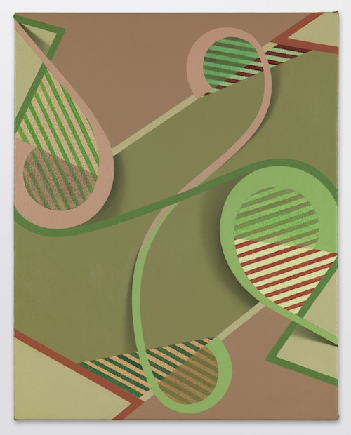 in Pictures for Tomma Abts at David Zwirner. Image for Tomma Abts, Oke, 2013, Acrylic and oil on canvas, 18 7/8 x 15 inches (48 x 38 cm). Courtesy David Zwirner, New York/London