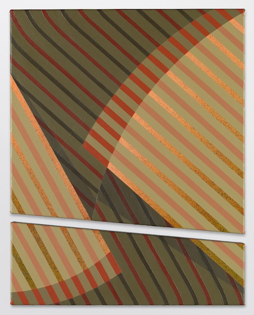 in Pictures for Tomma Abts at David Zwirner. Image for Tomma Abts, Wybe, 2014, Acrylic and oil on canvas, 2 part work, Overall: 18 7/8 x 15 inches (48 x 38 cm). Courtesy David Zwirner, New York/London