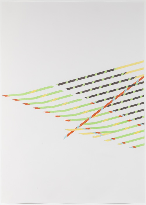 in Pictures for Tomma Abts at David Zwirner. Image for Tomma Abts, Untitled #1, 2013, Colored pencil and pencil on paper, 33 1/8 x 23 3/8 inches (84.1 x 59.4 cm). Courtesy David Zwirner, New York/London