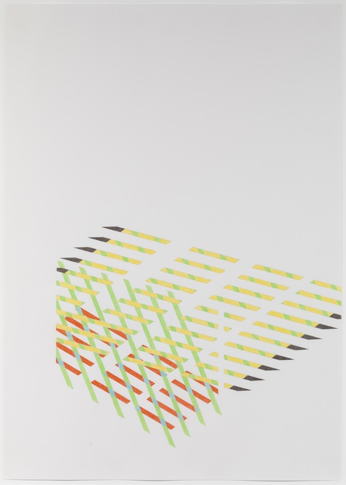 in Pictures for Tomma Abts at David Zwirner. Image for Tomma Abts, Untitled #2, 2013, Colored pencil and pencil on paper, 33 1/8 x 23 3/8 inches (84.1 x 59.4 cm). Courtesy David Zwirner, New York/London