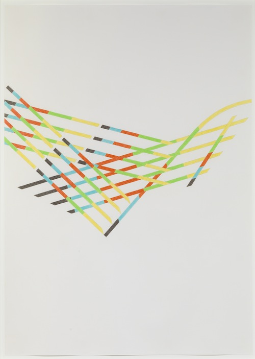 in Pictures for Tomma Abts at David Zwirner. Image for Tomma Abts, Untitled #4, 2013, Colored pencil and pencil on paper, 33 1/8 x 23 3/8 inches (84.1 x 59.4 cm). Courtesy David Zwirner, New York/London