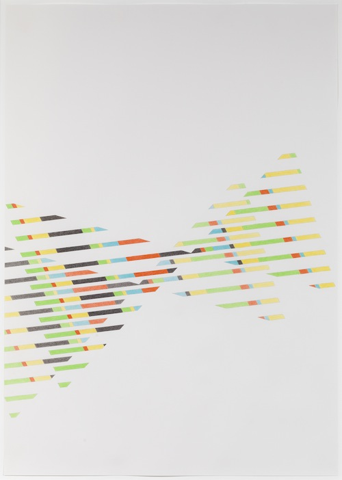 in Pictures for Tomma Abts at David Zwirner. Image for Tomma Abts, Untitled #6, 2013, Colored pencil and pencil on paper, 33 1/8 x 23 3/8 inches (84.1 x 59.4 cm). Courtesy David Zwirner, New York/London