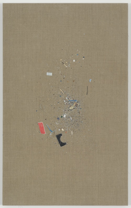 in Pictures for Helene Appel at James Cohan Gallery. Image for Helene Appel, Untitled (Sweepings), 2014, Oil and acrylic on linen, 44 7/16 x 27 1/2 in. (113 x 70 cm) © Helene Appel / Courtesy James Cohan Gallery, New York and Shanghai