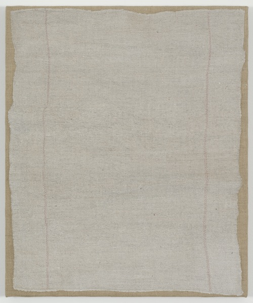 in Pictures for Helene Appel at James Cohan Gallery. Image for Helene Appel, Gray Cleaning Rag, 2014, Acrylic and watercolor on burlap, 27 1/2 x 23 3/16 in. (70 x 59 cm) © Helene Appel / Courtesy James Cohan Gallery, New York and Shanghai