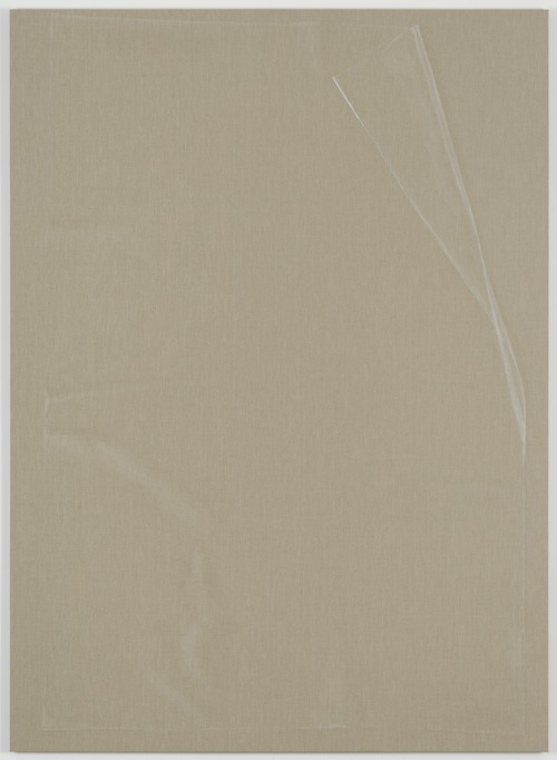 in Pictures for Helene Appel at James Cohan Gallery. Image for Helene Appel, Plastic Sheet, 2014, Watercolor on linen 86 9/16 x 62 15/16 in. (220 x 160 cm) © Helene Appel / Courtesy James Cohan Gallery, New York and Shanghai