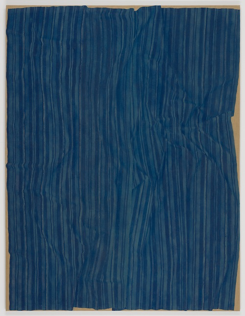 in Pictures for Helene Appel at James Cohan Gallery. Image for Helene Appel, Loosely Laid Out Large Blue Fabric, 2013, Watercolor on burlap, 127 1/2 x 97 5/8 in. (324 x 248 cm) © Helene Appel / Courtesy James Cohan Gallery, New York and Shanghai