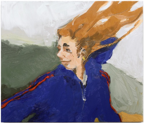 in Pictures for Jane Corrigan at Kerry Schuss. Image for Jane Corrigan, Windbreaker (Adidas), 2014, oil on linen, 26.5  x 31 in (67.3 x 78.7 cm). Image courtesy of Kerry Schuss, New York