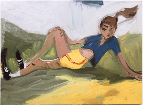 in Pictures for Jane Corrigan at Kerry Schuss. Image for Jane Corrigan, Primary Pose, 2014, oil on linen, 27 x 36.5 in (68.6 x 92.7 cm). Image courtesy of Kerry Schuss, New York