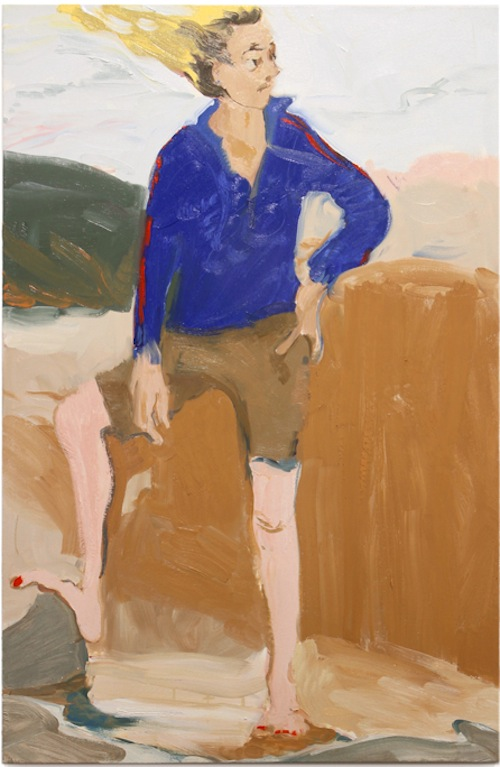 in Pictures for Jane Corrigan at Kerry Schuss. Image for Jane Corrigan, Beach Pose (Adidas), 2014, oil on canvas, 47 x 31 in (119.4 x 78.7 cm). Image courtesy of Kerry Schuss, New York